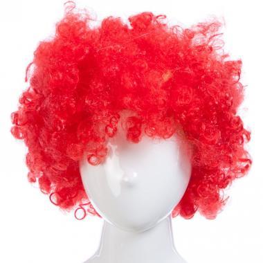 Парик карнавальный цветной СИМОНА (красный), 7-50 лет