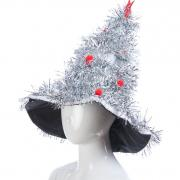 Новогодняя шапочка ЕЛОЧКА КРАСАВИЦА (серебро), 10-60 лет