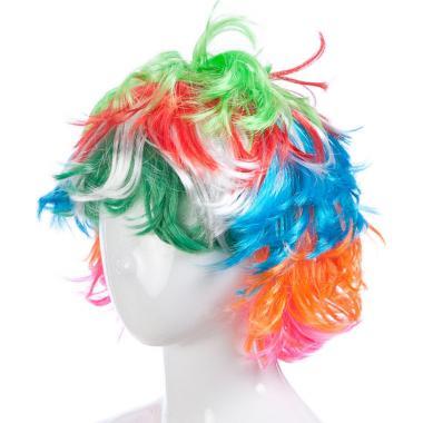 Парик карнавальный разноцветный РАДУГА (мультиколор), 7-50 лет