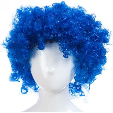 Парик карнавальный цветной СИМОНА (синий), 7-50 лет
