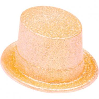 Шляпа-цилиндр КАБАРЕ (оранжевая), 10-60 лет