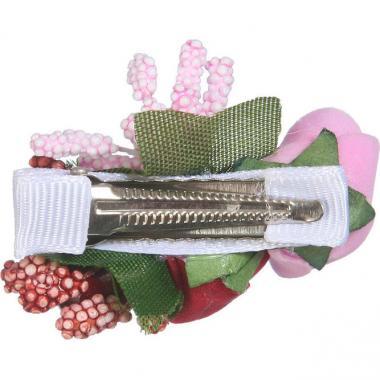 Заколка-прищепка для девочки (бирюза/розовый)