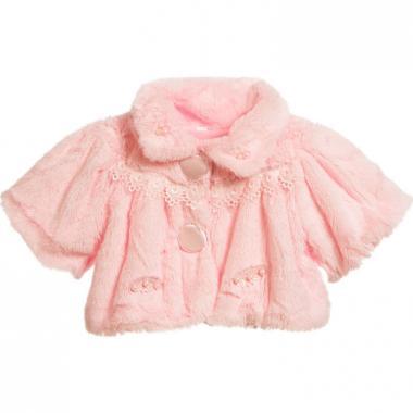 Нарядное болеро для девочки МИЛАДА (розовое), 1-6 лет