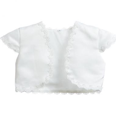 Нарядное болеро для девочки НАТАЛИ (белое), 1-6 лет