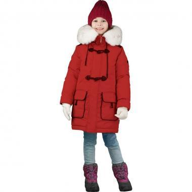 Зимняя куртка-парка Boom! by Orby для девочки с подстежкой (лиловый/коричневый/бежевый), 3-15 лет