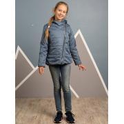 Демисезонная куртка АВРОРА для девочки МЭГГИ (деним меланж), 7-13 лет