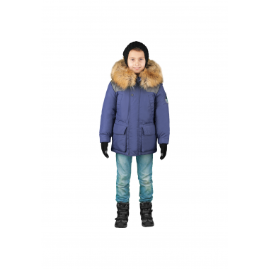 Зимняя куртка-парка Boom! by Orby для мальчика с подстежкой (синий), 3-15 лет