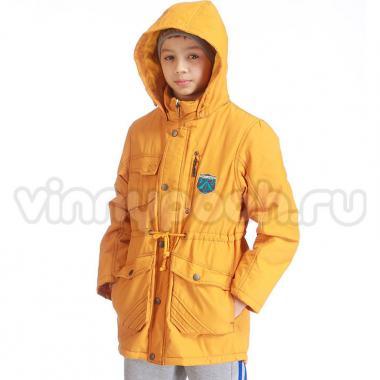Модная весенняя куртка-парка Kiko для мальчика (горчица), 7-12 лет
