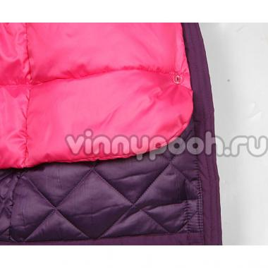 Зимняя куртка-парка Boom! by Orby для девочки с подстежкой (фиолетовый), 10-14 лет