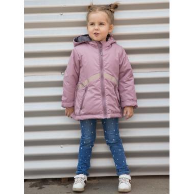 Демисезонная куртка АВРОРА для девочки МИШЕЛЬ (пыльная роза), 3-6 лет