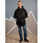 Демисезонная куртка АВРОРА для мальчика ДЭВИС (черный/серый), 7-13 лет