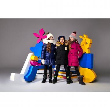 Зимнее пальто BOOM! by Orby для девочки (т.синий), 3-15 лет