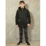 Демисезонная куртка АВРОРА для мальчика РИЧАРД (черный), 7-14 лет