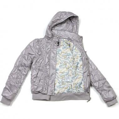 Стеганая весенняя куртка для девочки Levin Force (серая), 11-14 лет