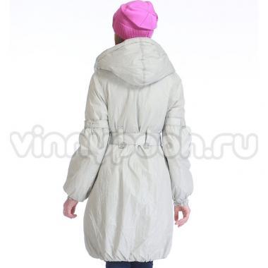 Весеннее пальто МК для девочки-подростка (серебро), 7-12 лет