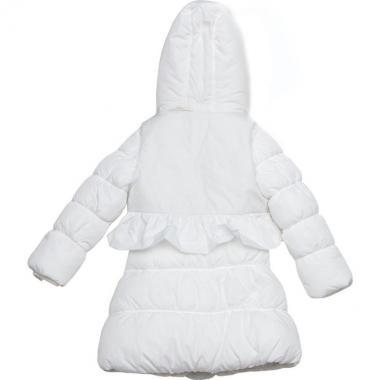 """Зимнее пальто с жилеткой KIKO для девочки """"Анжелина"""" (белый), 5-9 лет"""