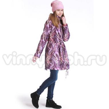 Весеннее пальто МК для девочки-подростка (сиреневое), 8-14 лет