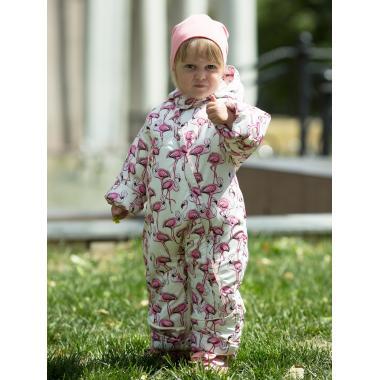 Демисезонный комбинезон АВРОРА для девочки ЛЮБИМКА (розовый), 6 мес.-1,5 лет