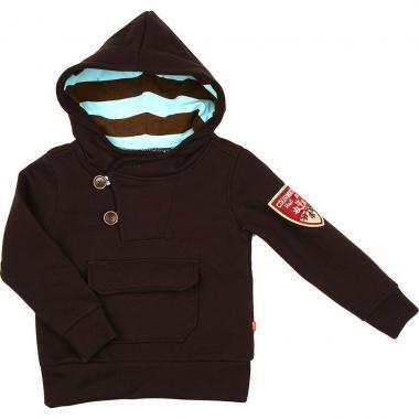 Джемпер для мальчика Mini-Maxi с карманом (коричневый), 2-6 лет
