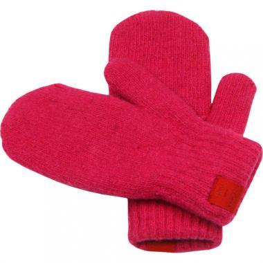 Двойные зимние варежки Glopia для девочки (розовый), 2-10 лет