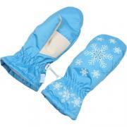 Зимние варежки ЗИМОВИЧОК для девочки ЗИМА (голубой), 6-14 лет