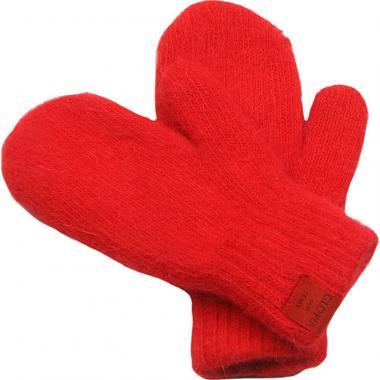 Двойные зимние варежки Glopia для девочки (красный), 2-10 лет