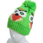 Зимняя шапка OLIWIA для девочки СОВЕНОК (зеленая), 10-15 лет