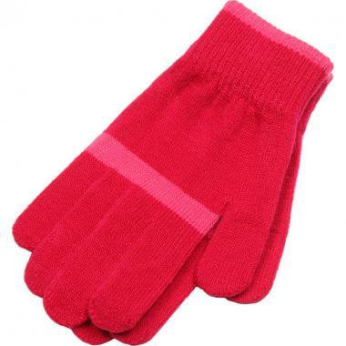 Зимние перчатки Snovia для девочки с полосой (фуксия), 8-13 лет