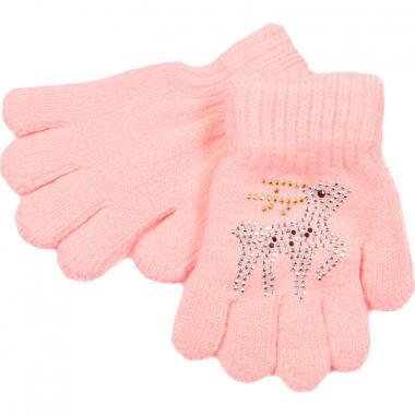 Перчатки МАРИЯ для девочки ЗОЛОТЫЕ РОГА (светло-розовый), 2-9 лет