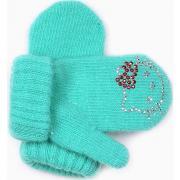 "Зимние варежки для девочки ""Китти"" (бирюза), 1-3 года"