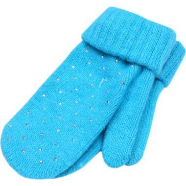 Зимние варежки ACCESSORIES для девочки (бирюза), 9-14 лет