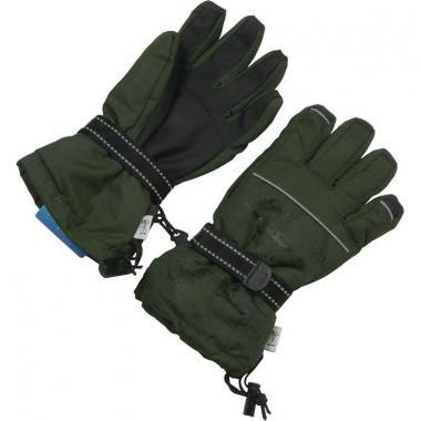 Зимние перчатки Зимовичок для мальчика Самолет (хаки), 6-14 лет