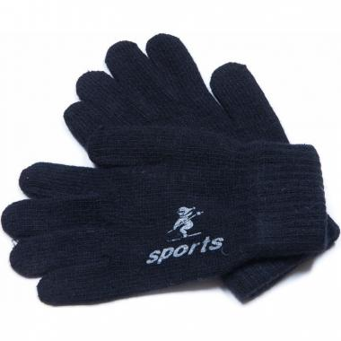 Зимние перчатки для мальчика SPORT (черные), 8-16 лет