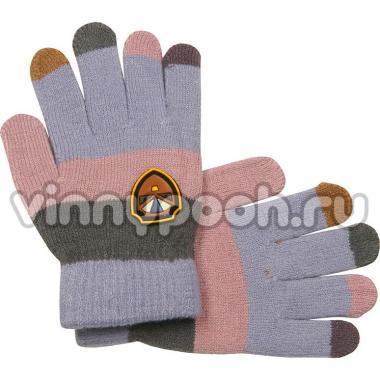 Перчатки Vacss для мальчика в полоску (светло-серый/серый), 4-7 лет