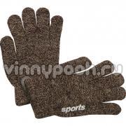 """Перчатки для мальчика """"SPORTS"""" (кофе), 6-12 лет"""