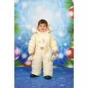 Зимний комбинезон-трансформер Little Boy для девочки (бежевый), 0-1 год