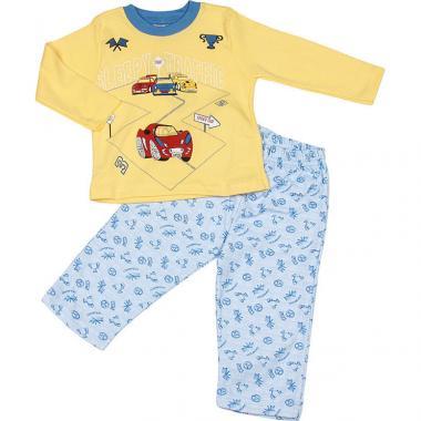 Хлопковая пижама Sleppy для мальчика (желтый/голубой), 1-5 лет
