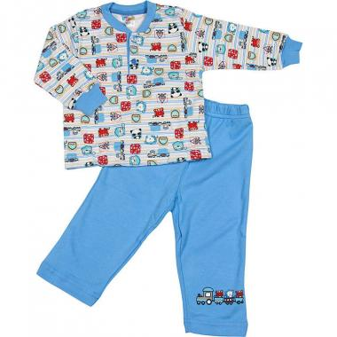 Хлопковая пижама Sleppy для мальчика (голубой/красный), 1-5 лет