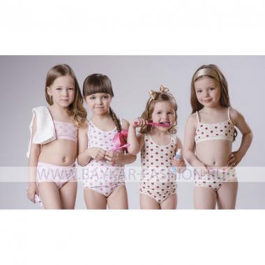 Хлопковая майка Baykar для девочки 1 шт. (розовая), 1,5-12 лет