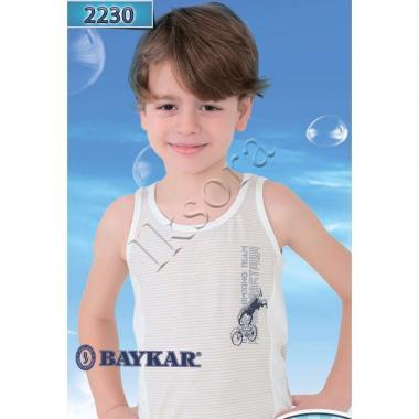Хлопковая майка Baykar для мальчика Велоспорт 1 шт. (синяя), 1,5-12 лет