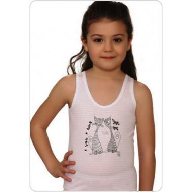 Хлопковая майка Baykar для девочки 1 шт. (бежевая), 1,5-12 лет