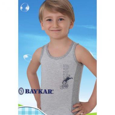 Хлопковая майка Baykar для мальчика Велоспорт 1 шт. (серая), 1,5-12 лет