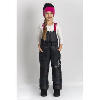 Зимний полукомбинезон Boom by Orby для девочки (черный), 2-8 лет