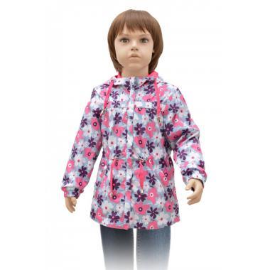 Демисезонная ветровка RUSLAND для девочки ФИАЛКИ (голубой), 3-8 лет