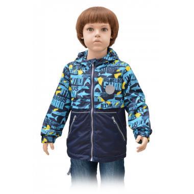 Демисезонная ветровка RUSLAND для мальчика (синий), 4-8 лет
