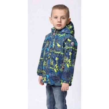 Ветровка SELEO для мальчика (синий/лайм), 1,5 года - 5 лет