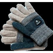 Зимние перчатки для мальчика DOCTOR (бежевый/графит), 8-12 лет