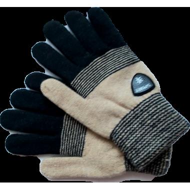 Зимние перчатки для мальчика DOCTOR (черный/бежевый), 8-12 лет