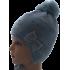 Шапка для девочки BARBARAS с бантиком (серый/голубой), 3-6 лет