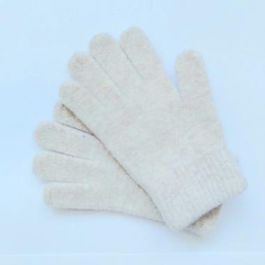 Шерстяные перчатки для девочки (бежевый), 8-12 лет